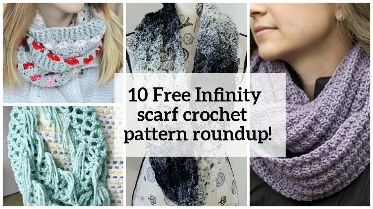 10 Free Infinity scarf crochet pattern roundup!
